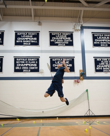 Tony Yu helped the boys' badminton team to a program wins record (PC: Michael Cao)