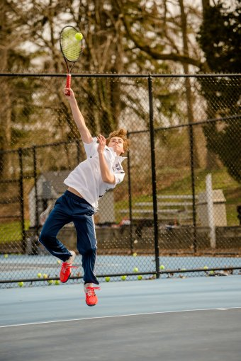 Brandon Gicquel (pictured) & Thomas Lawson made the Division III doubles final (PC: Bruce Jeffrey)