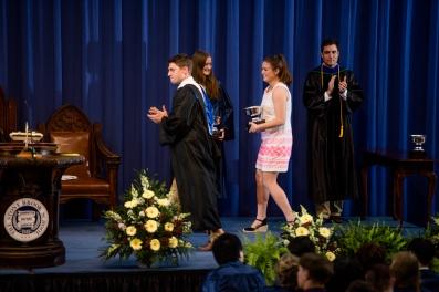 Beth Felix accepts the Swanson All-Around Athlete Award