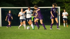 Ella Simmons keyed the offense for the girls' soccer team (PC: Bruce Jeffrey)