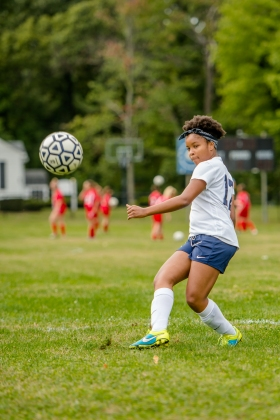 Dara Adesina was a leader for the JV girls' soccer team (PC: Bruce Jeffrey)