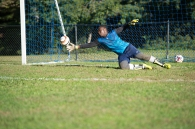 Lael Kutame was the keeper for the 7-3 JV boys' soccer team (PC: Bruce Jeffrey)
