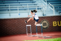 Diana Barbacena was a key contributor for the girls' track squad (PC: Bruce Jeffrey)