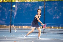 Ariel Wang was a key piece of the JV girls' tennis team (PC: Bruce Jeffrey)