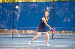 Ariel Wang was a key piece of the JV girls' tennis team (PC: Bruce Jeffrey)