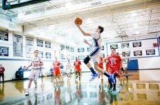 Colin Scanlon helped lead the JV boys' basketball team to the League Championship (PC: Bruce Jeffrey)
