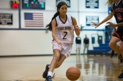 Alyssa Martinez was a key piece of the JV girls' basketball team (PC: Linnea Piazza)