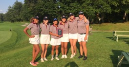 Jones (left) and her teammates FPU teammates after an invite win