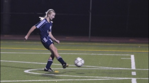 Annie Skorobohaty converts her penalty kick