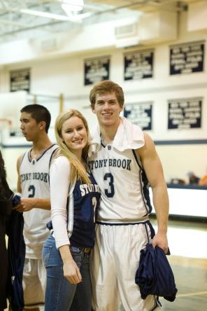 Allie Damianos & Tyler Abrahamsen after a boys' win (PC: Gianna Scavo)