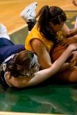 Spiliotis battles for the ball