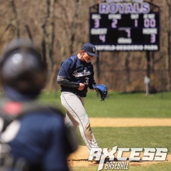 Wozny rings up his 15th strikeout (PC: Axcess Baseball)