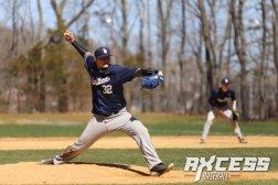 Woz uncorks a fastball (PC: Axcess Baseball)