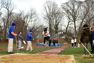 Leung took first in the long jump