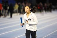 Sarah Wong in the spring medley relay