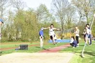 Keegan took 3rd in the triple jump