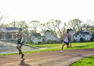 Louis Wang leads off the 4x100m relay vs. Ross (PC: Angela Leung)