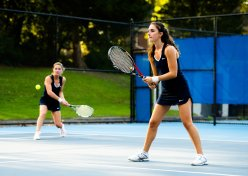 Julia (left) and Olivia Braat were key contributors for the girls' tennis squad (PC: Bruce Jeffrey)