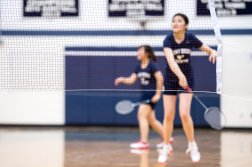 The girls' badminton team earned a spot in the Suffolk County semifinals (PC: Bruce Jeffrey)