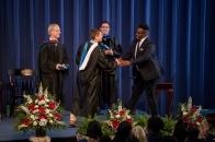Buomie Oruene accepts the John Long Manager's Award