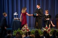 Madi Sargent accepts the Clyde L. Mellinger Award