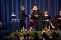 Tiger Winston accepts the Clyde L. Mellinger Award