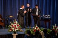 Eze Barrah accepts the Brohard Wrestling Award