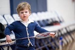 Nicholas Radcliff was a super fan for the badminton teams (PC: Caitlin O'Neill)