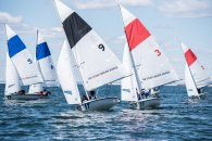 The canvas unfurls during the spring dinghy sailing season (PC: Leslie Paige)