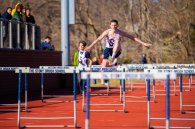 Scalon wins the 110 hurdles (PC: Bruce Jeffrey)