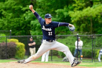 Wozny fires one of his 11 Ks in the PSAA Championship (PC: Newsday)