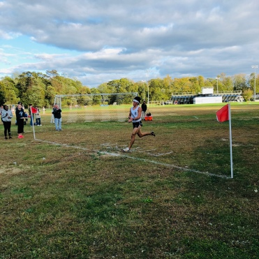 Corcoran flies through the finish on Friday